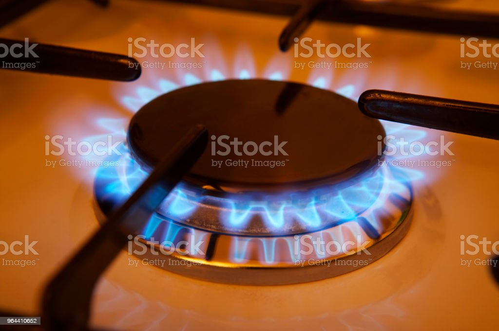 GAS COOKER FLAME - Royalty-free Atmosphere Stock Photo