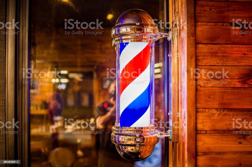 Символ барбершопа stock photo