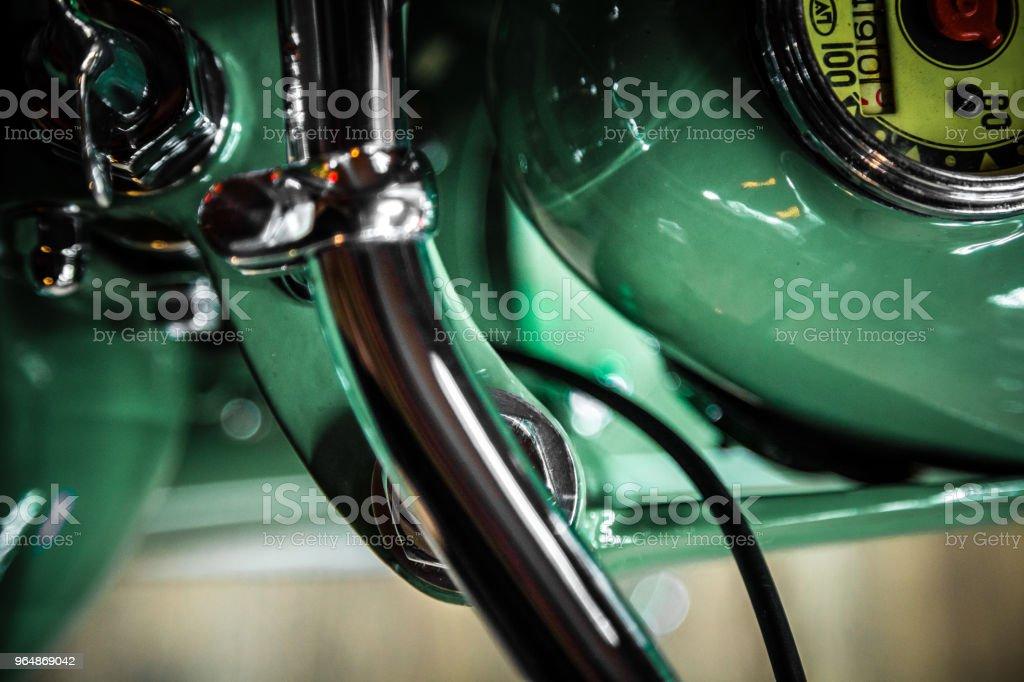 Зеленый мотоцикл royalty-free stock photo