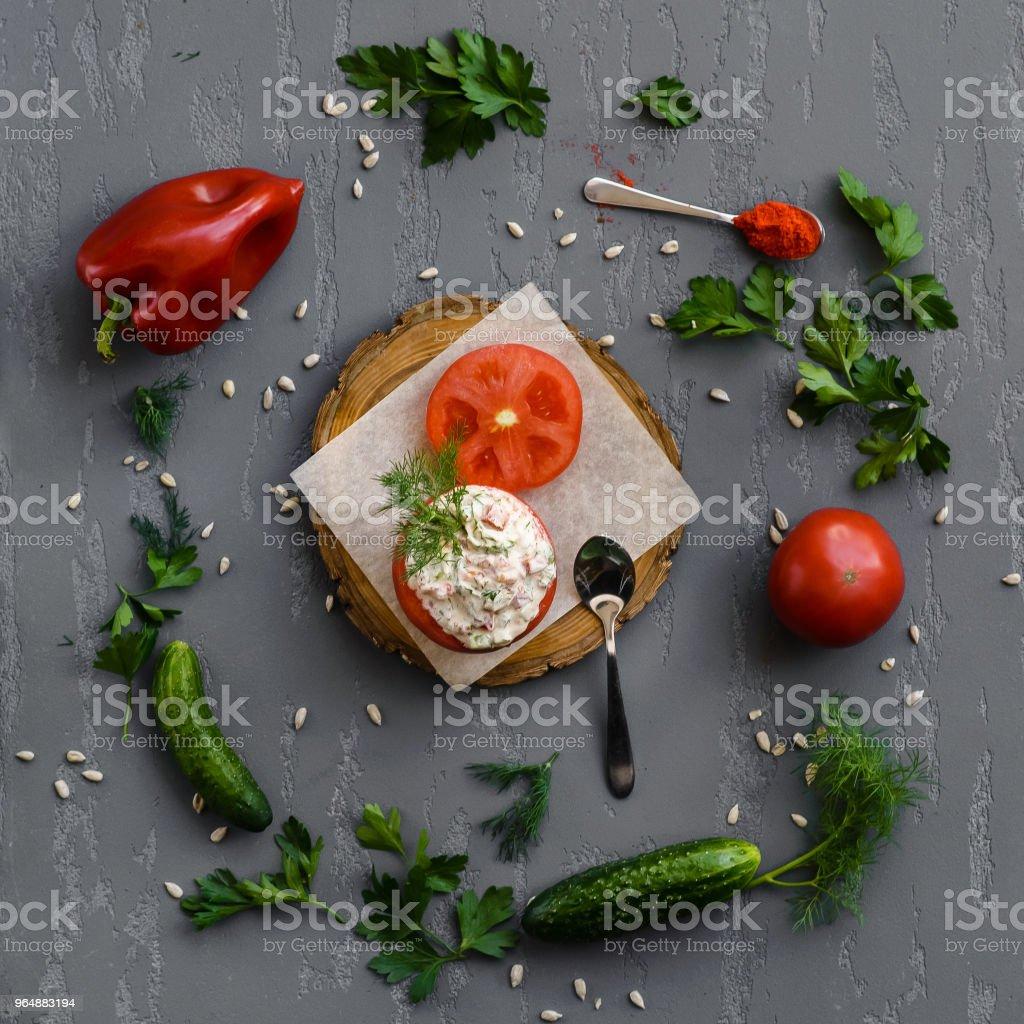 Фаршированный томат royalty-free stock photo