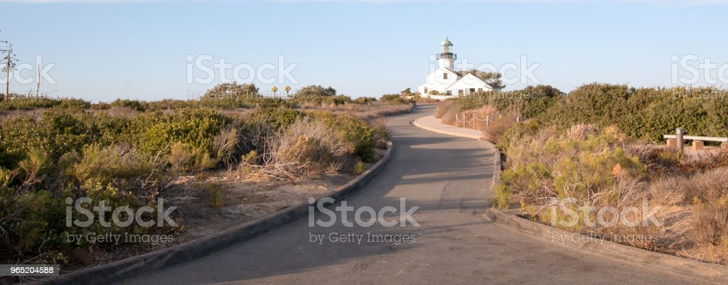 PARK ROAD TO OLD POINT LOMA LIGHTHOUSE POINT LOMA SAN DIEGO CALIFORNIA USA royalty-free stock photo