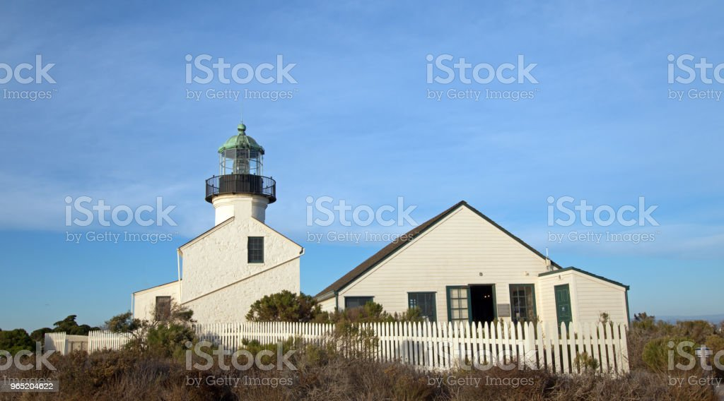 BLUE SKY OVER OLD POINT LOMA LIGHTHOUSE POINT LOMA SAN DIEGO CALIFORNIA USA royalty-free stock photo