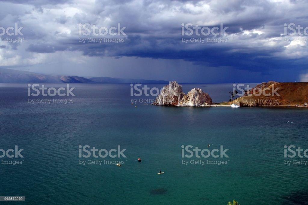 Скала Шаманка - сердце Байкала royalty-free stock photo