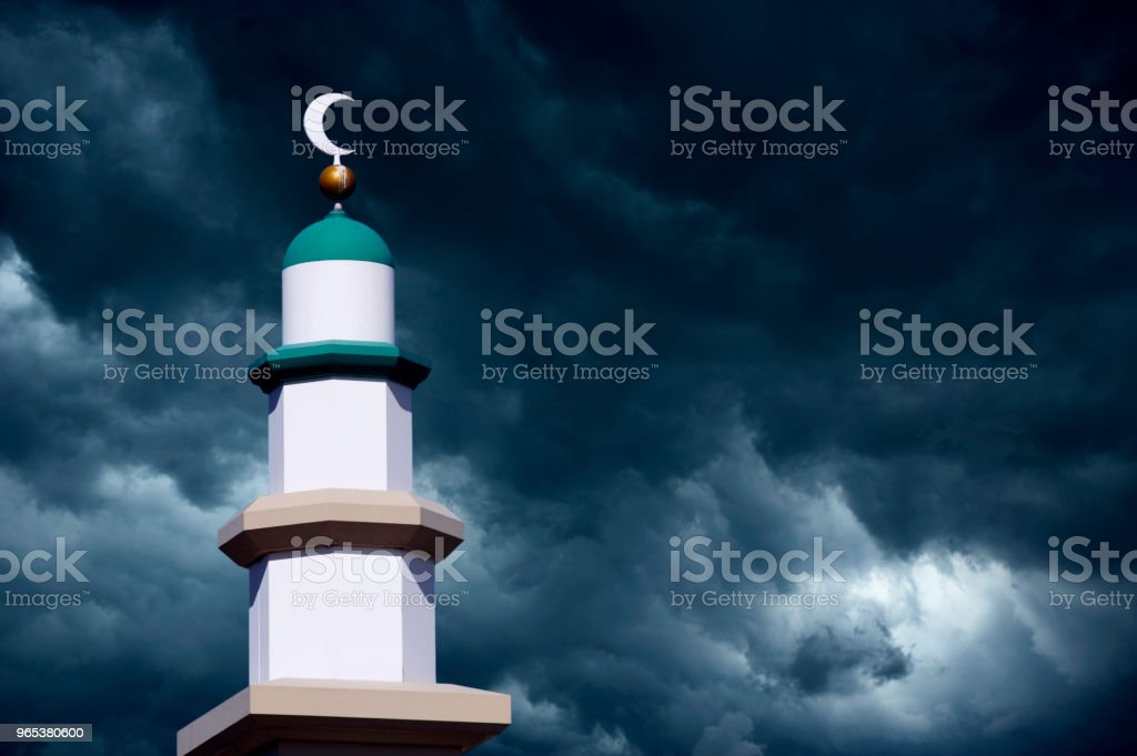 TOWER OF MOSQUE royalty-free stock photo