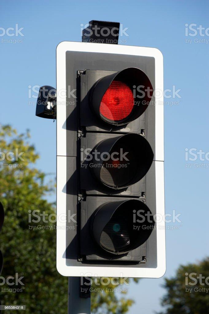 ROAD TRAFFIC LIGHT royalty-free stock photo