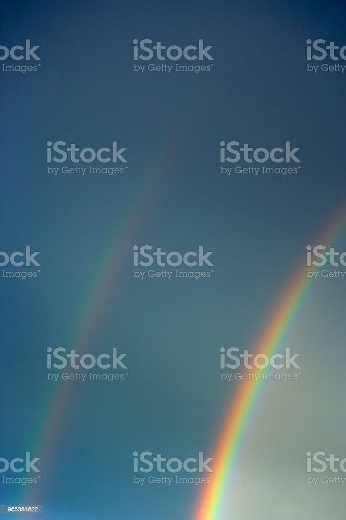 DOUBLE RAINBOW royalty-free stock photo
