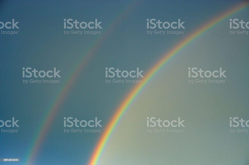DOUBLE RAINBOW royalty-free stock photo
