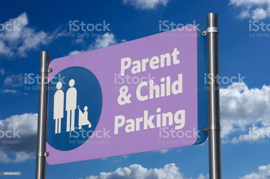 PARENT AND CHILD PARKING SIGN royalty-free stock photo