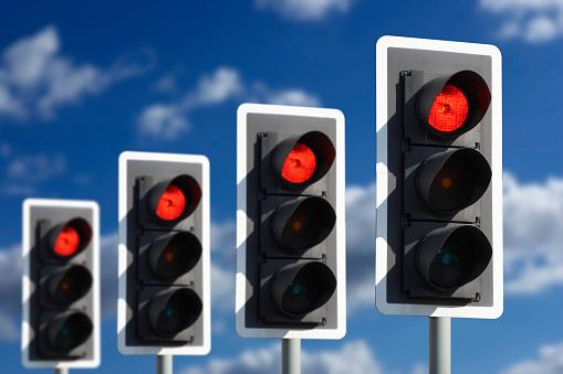4 빨간 신호등 0명에 대한 스톡 사진 및 기타 이미지