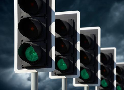 5도 신호등 녹색 표시 0명에 대한 스톡 사진 및 기타 이미지
