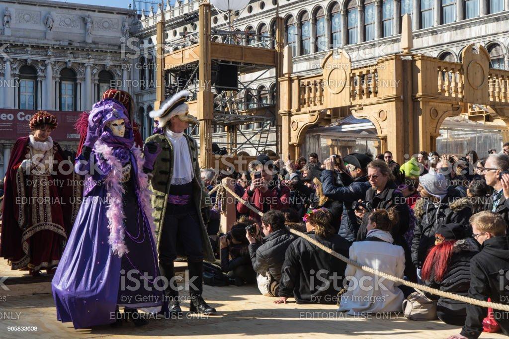 VENICE, ITALY - FEBRUARY 19, 2017 - Royalty-free Carnival - Celebration Event Stock Photo