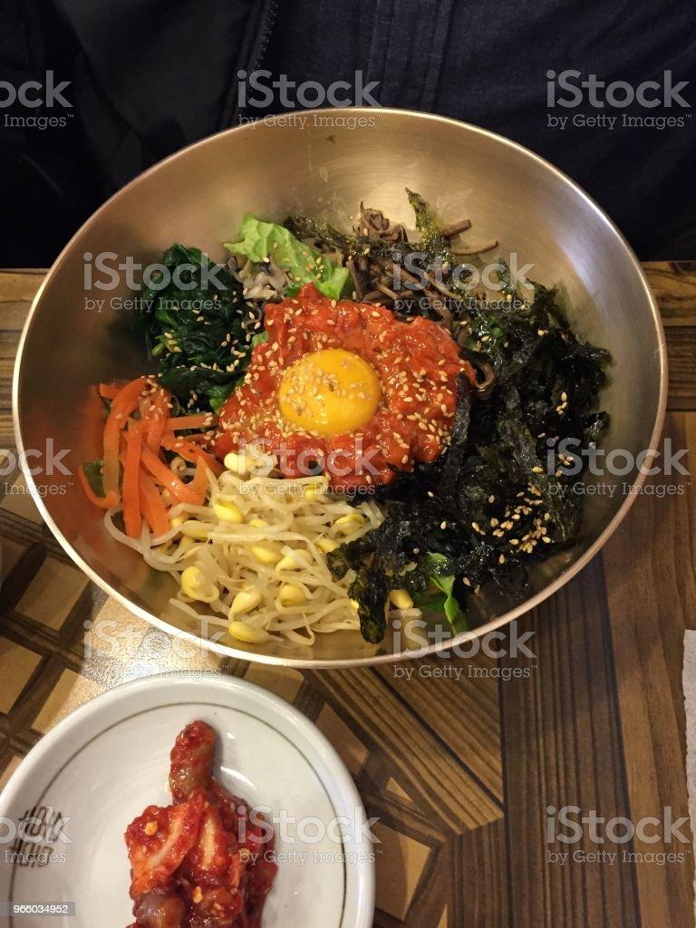 KOREAN FOOD BI BIM BAP stock photo