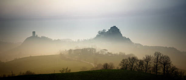 CASTLE IN THE FOG - foto stock