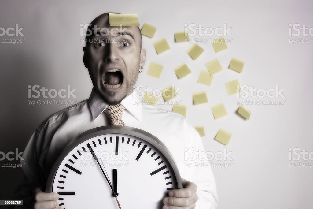 BUSINESSMAN FORGETS HIS SCHEDULE royalty-free stock photo