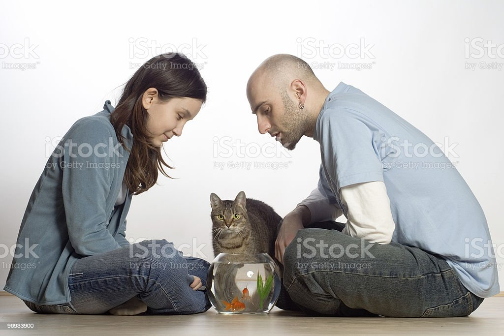 COUPLE WITH THEIR PETS royalty-free stock photo
