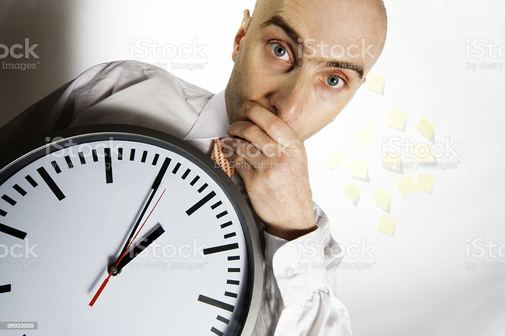 BUSY BUSINESSMAN royalty-free stock photo