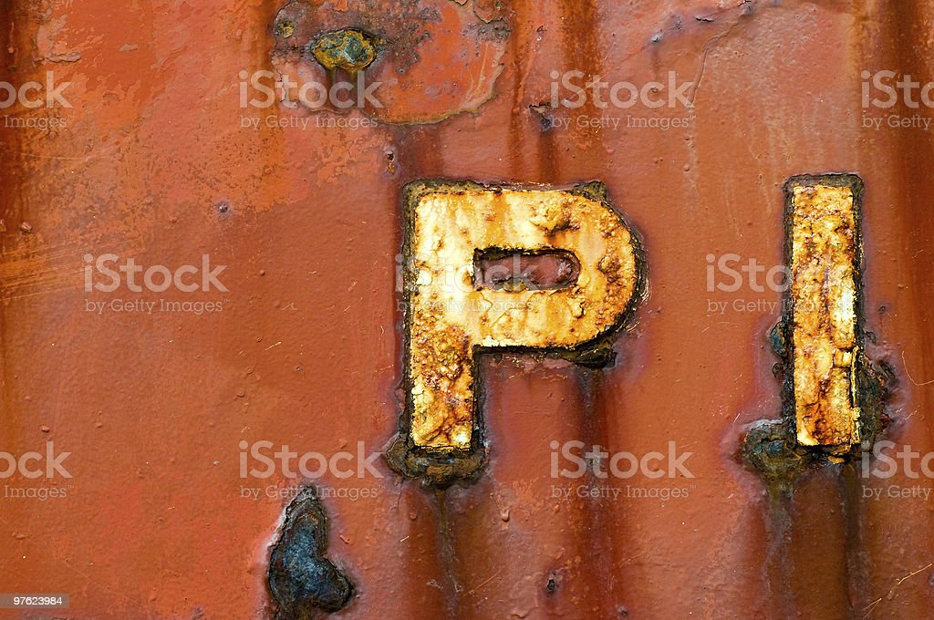 PI royalty-free stock photo