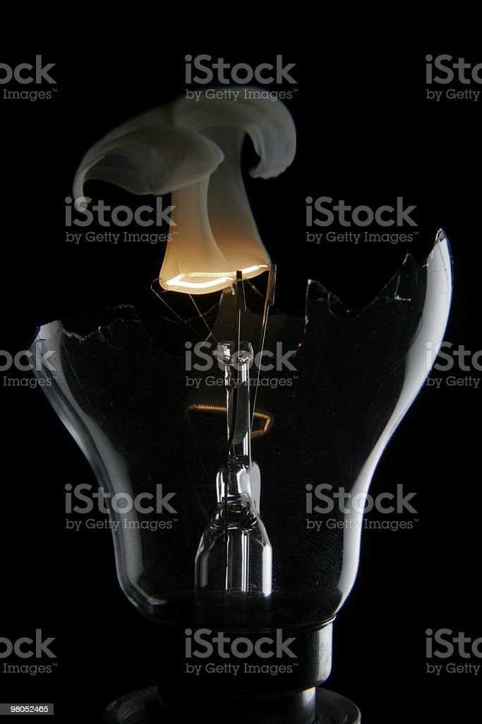 EXPLODING LIGHTBULB royalty-free stock photo