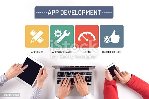 istock BUSINESS TEAM WORKING ON APP DEVELOPMENT CONCEPT 980948850