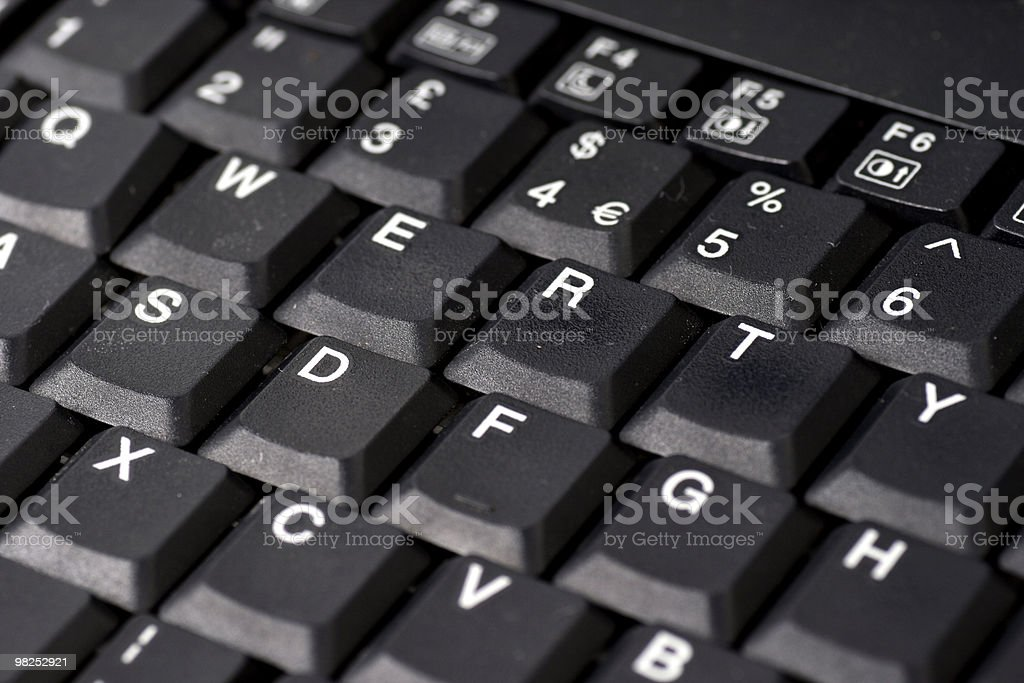 QWERTY royalty-free stock photo