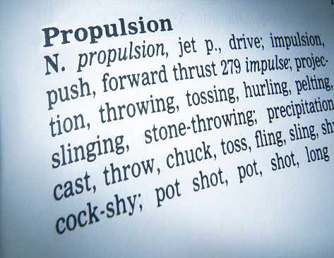Thesaurus Page Showing Definition Of The Word Propulsion Stock Photo Download Image Now Istock