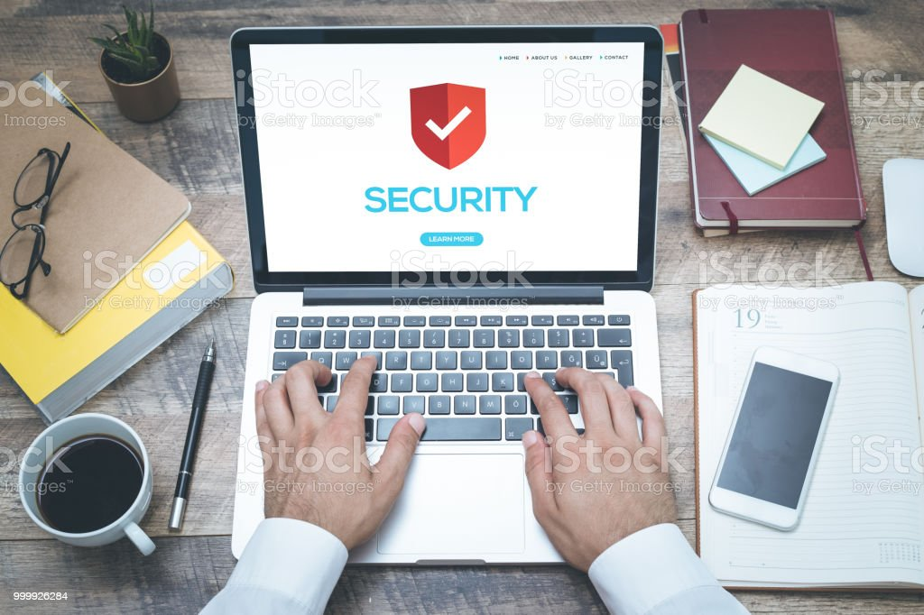 COMPUTER SECURITY CONCEPT stock photo