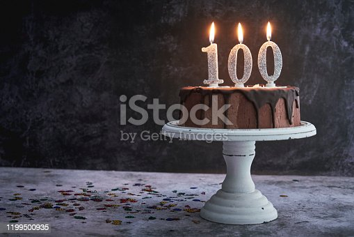 100th Birthday Cake with Chocolate