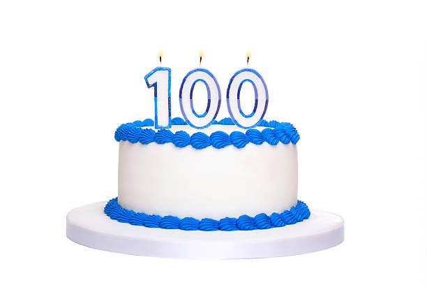 100 th birthday cake - nummer 100 stock-fotos und bilder