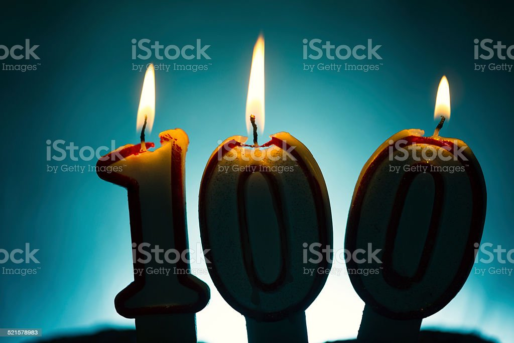 100th Birthday Candles Royalty Free Stock Photo