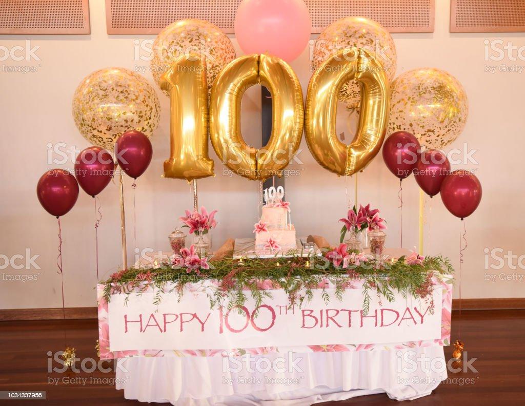 100th Birthday Celebrations stock photo