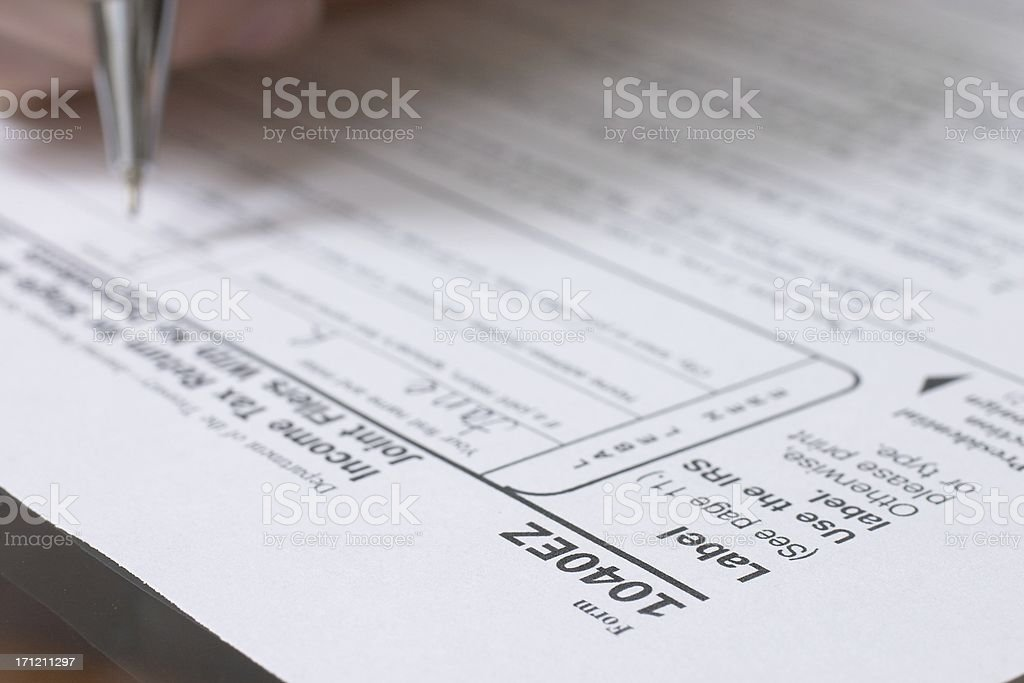 1040ez stock photo