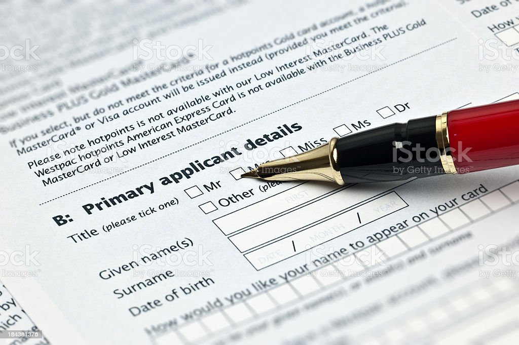 1040x Tax Form royalty-free stock photo