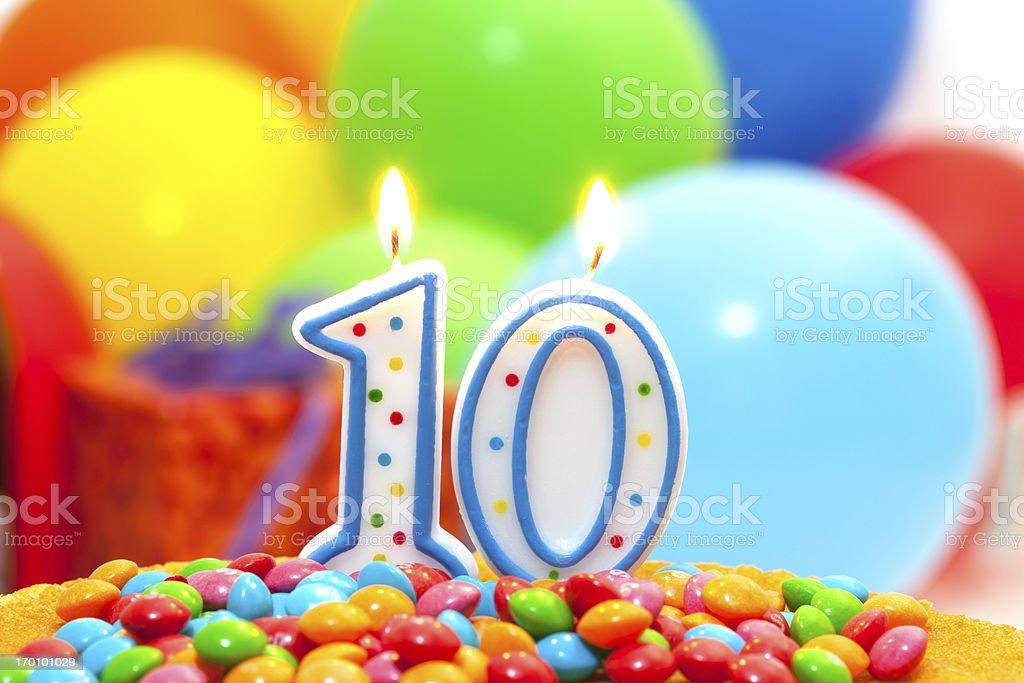 10st  birthday. royalty-free stock photo