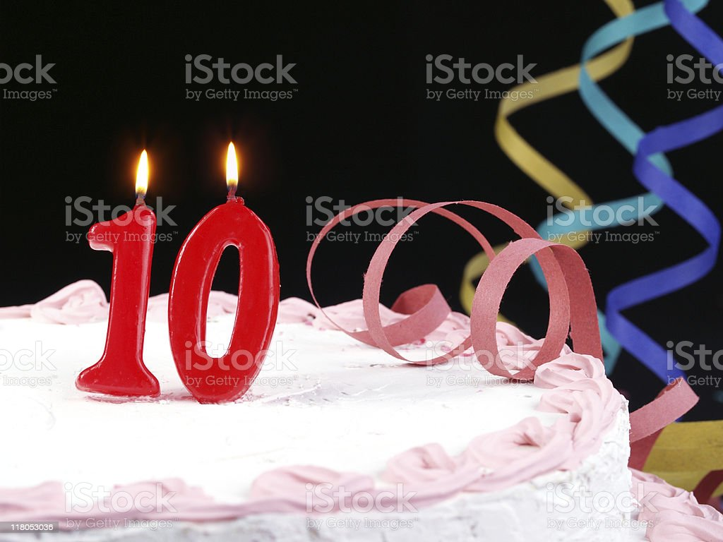 10th. Anniversary stock photo
