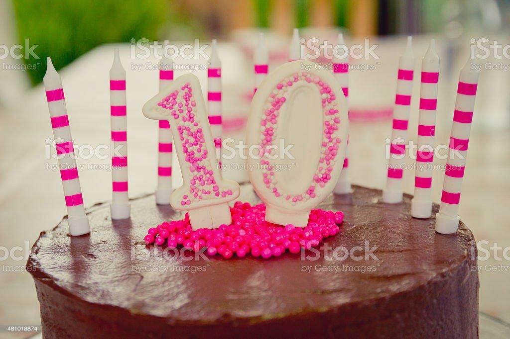 10 Geburtstag Kuchen Dekoration Stock Fotografie Und Mehr Bilder Von