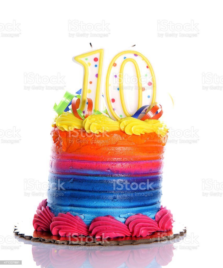 10th Birthday Cake Stock Photo More Pictures Of Aging Process Istock