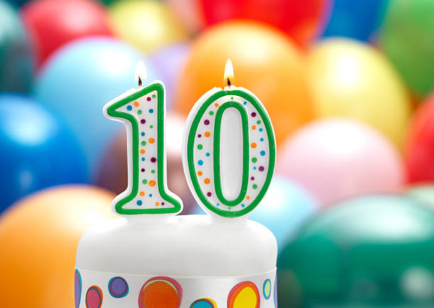 10th birthday party stock photo
