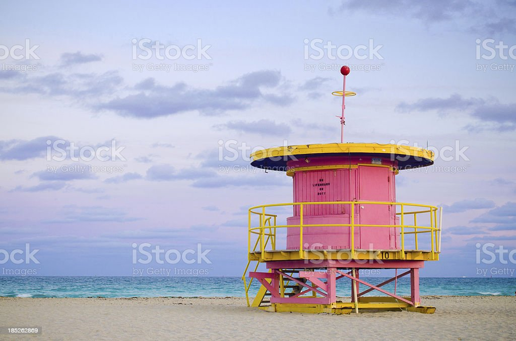 10 th Street Budka ratownika w Miami Beach, FL – zdjęcie