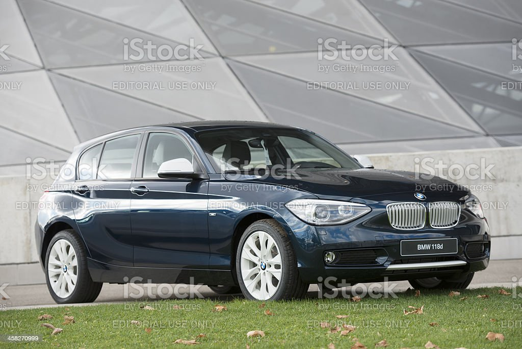 BMW 118d  2013 (F20) royalty-free stock photo
