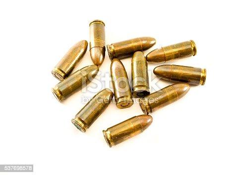 istock 11mm bullets short gun. 45 Automatic Colt Pistol (ACP) bullets 537698578