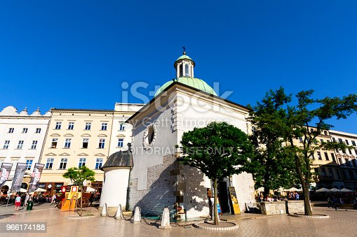 istock 11th century baroque Church of St. Wojciech on main market square, Krakow, Poland 966174188
