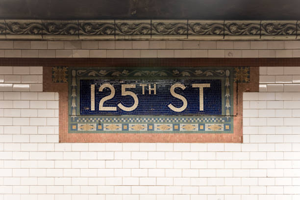 125th Street Subway Station - NYC stock photo