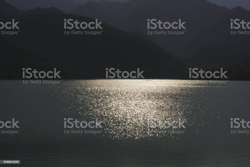 128_Barcis Lake stock photo