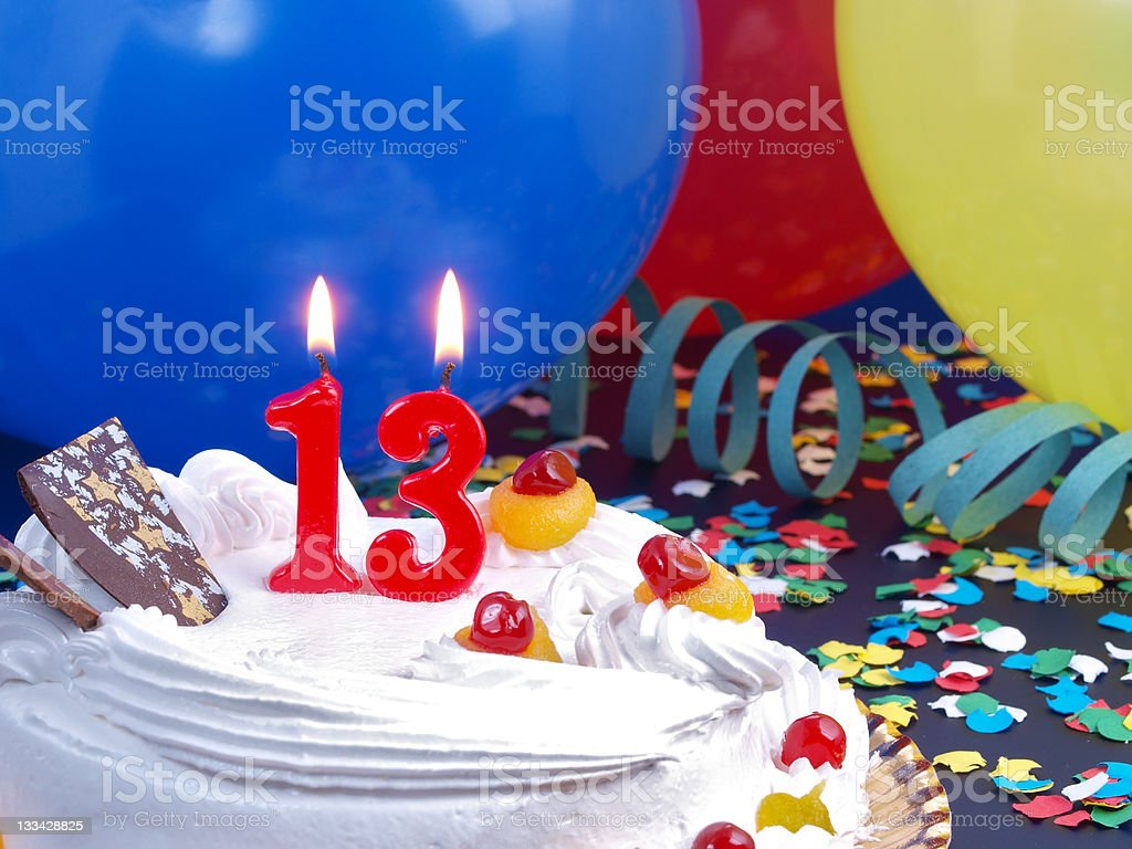 13th. Anniversary royalty-free stock photo