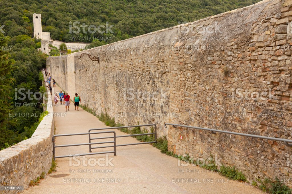 13th Century Bridge and Aqueduct stock photo