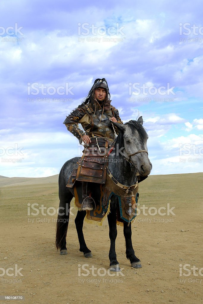 13th century Warrior stock photo