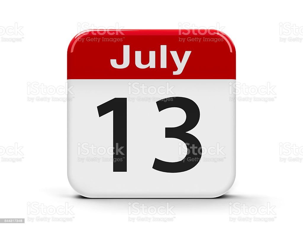 13th July stock photo