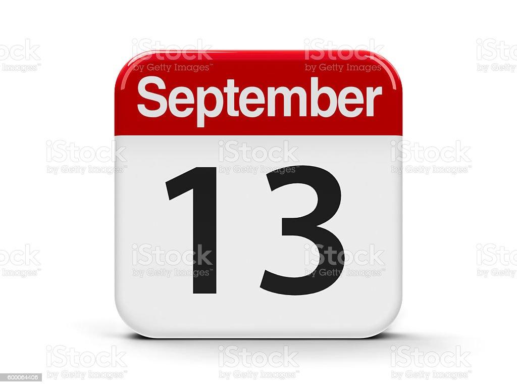 13th September stock photo