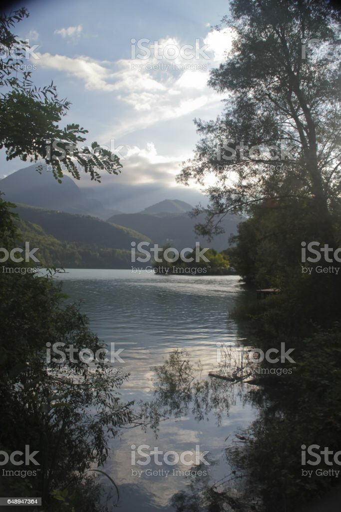141_Barcis Lake stock photo