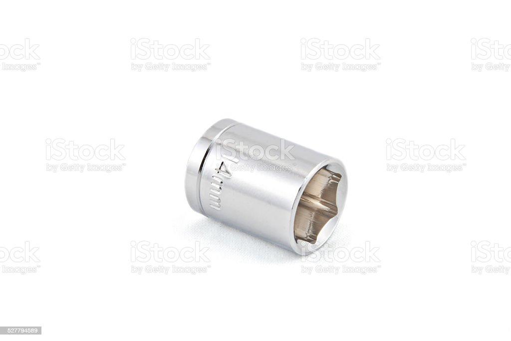 14mm Shiny wrench socket stock photo